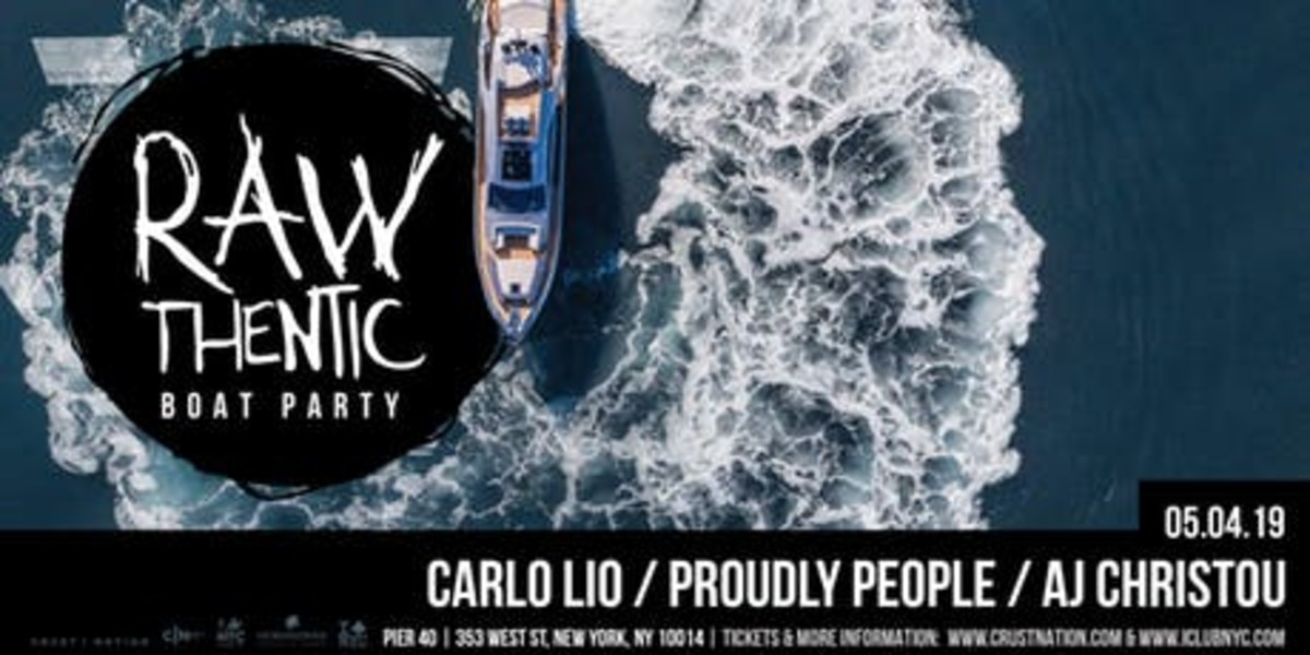 Rawthentic Boat Party w/ Carlo Lio, Proudly People, AJ Christou - iBoatNYC Summer Concert Cruise Series