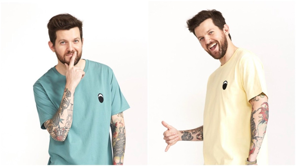 Dillon Francis modeling the 2nd capsule of his clothing line collaboration with Barney Cools, The Gerald Collection.