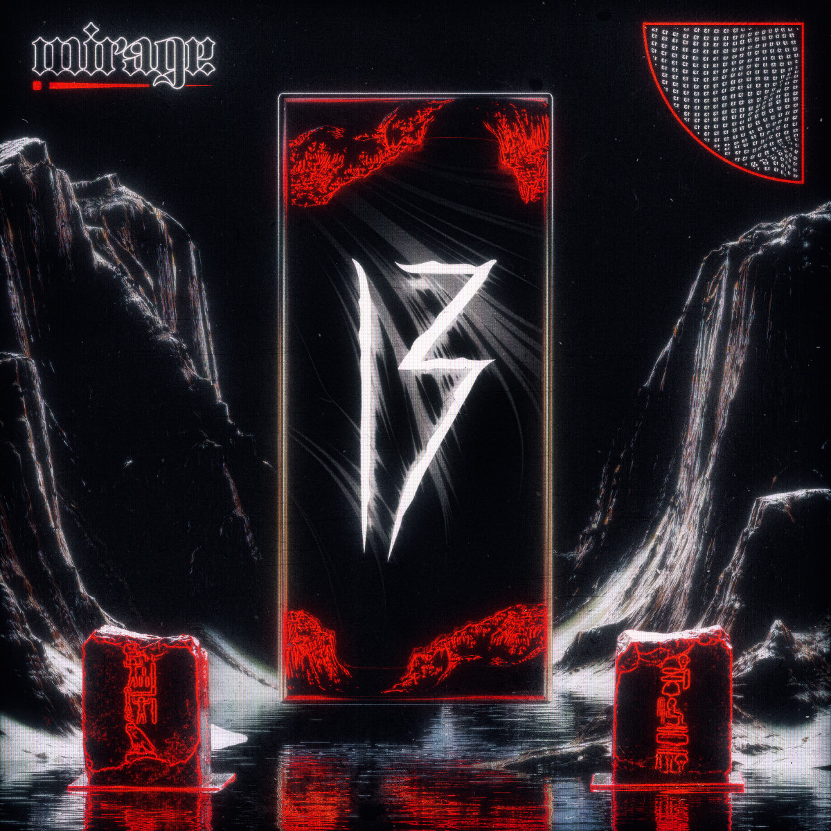 "13 - ""M)rage"" Cover Art for Self-Release Single (EDM.com Feature)"