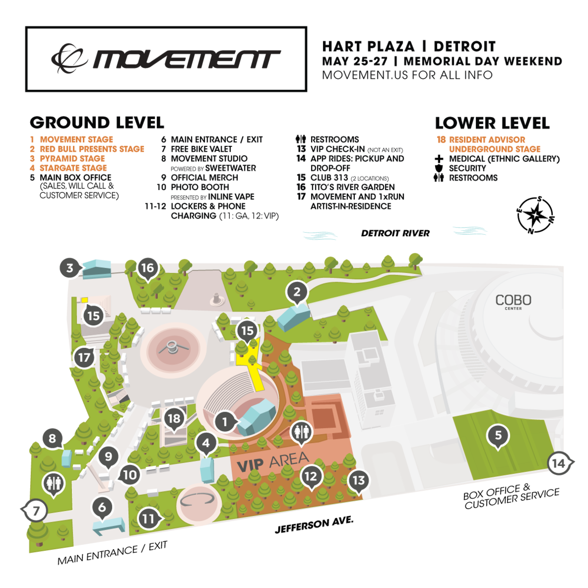 Movement 2019 Site Map