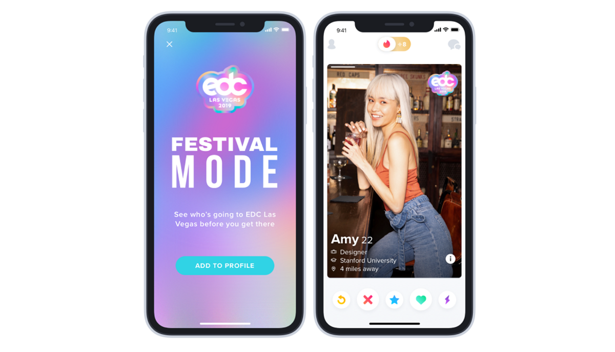 Tinder Festival Mode Badges