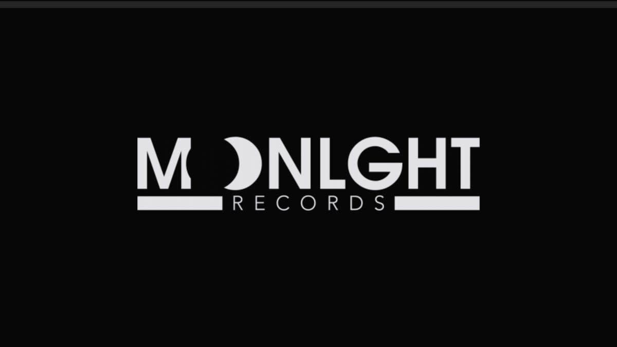 Eddy Mansito / Moonlight Records Logo (White on Black)