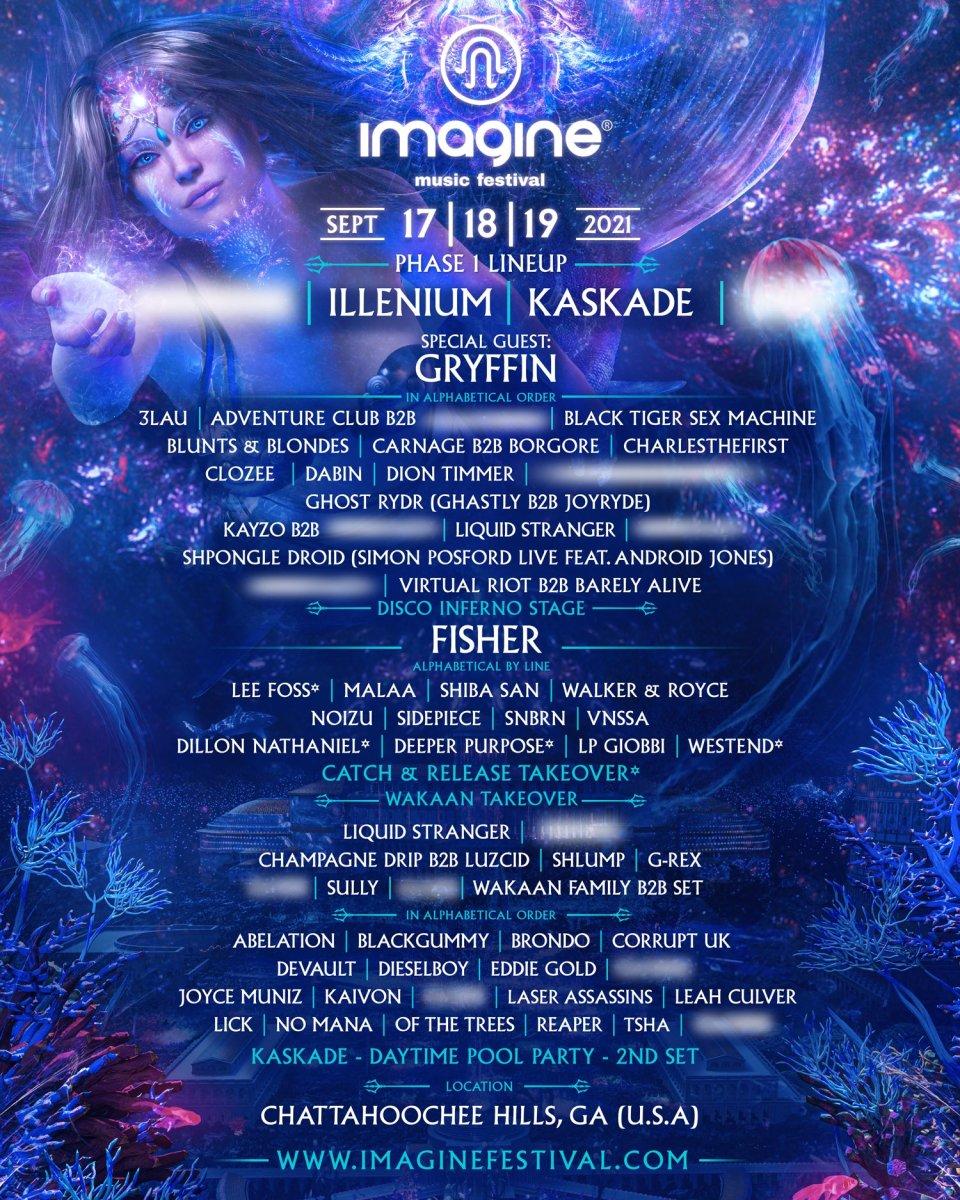 imagine festival lineup 2021