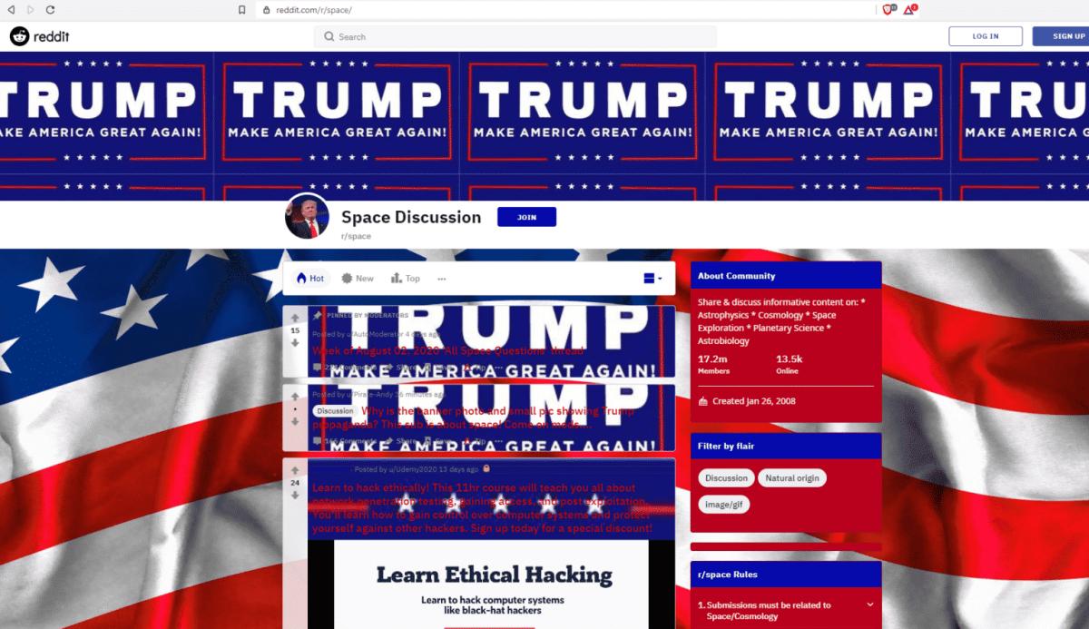 Space-Subreddit-Hacked-Showing-Trump-2020-1536x887