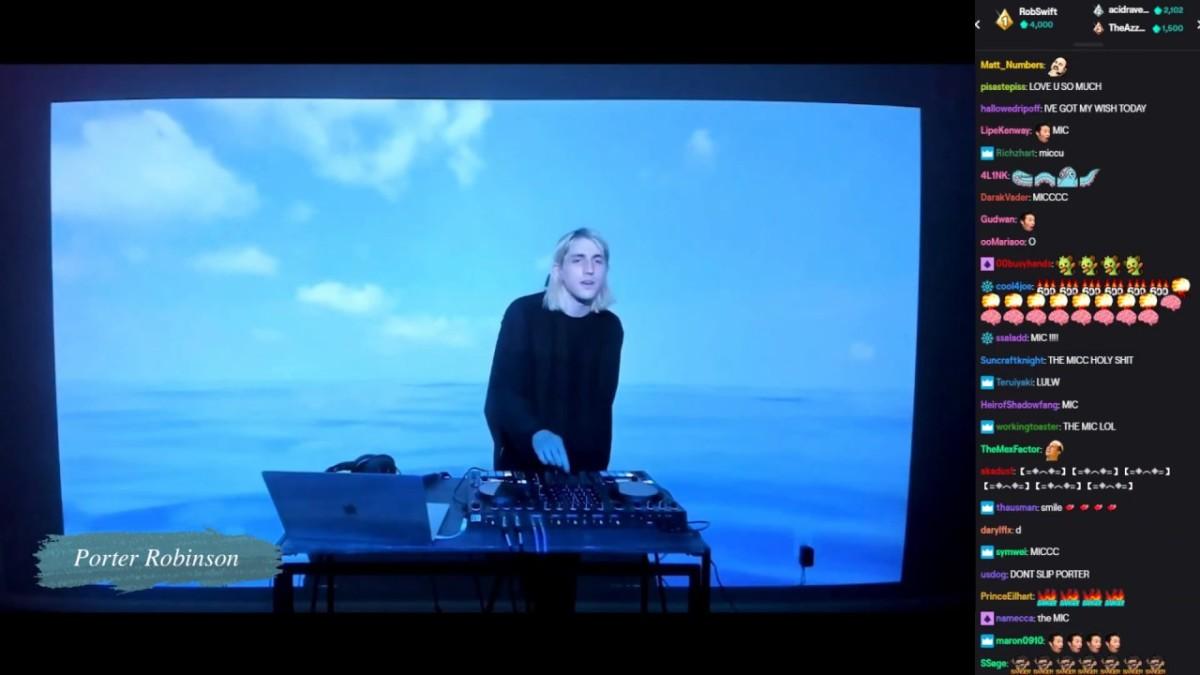 """Screenshot of Porter Robinson's """"Secret Sky"""" livestream."""
