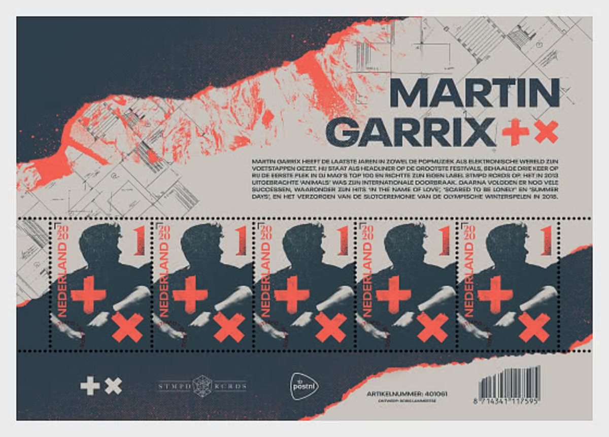 Martin Garrix and PostNL release custom stamp in DJ's honorNl63571