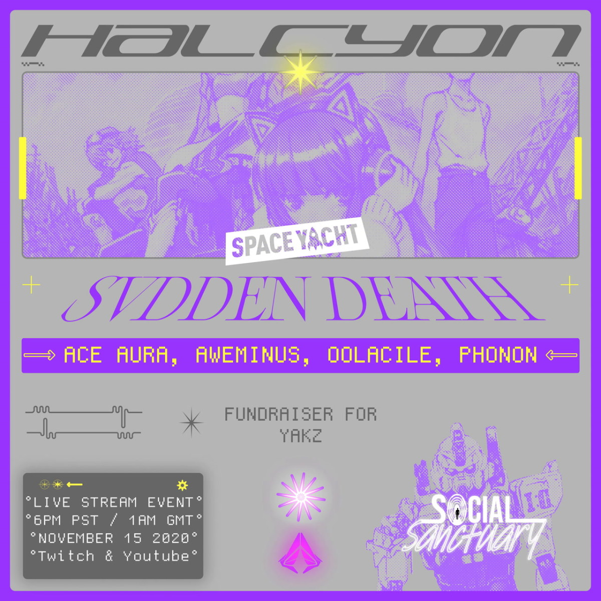Halcyon Space Yacht NEW DATE