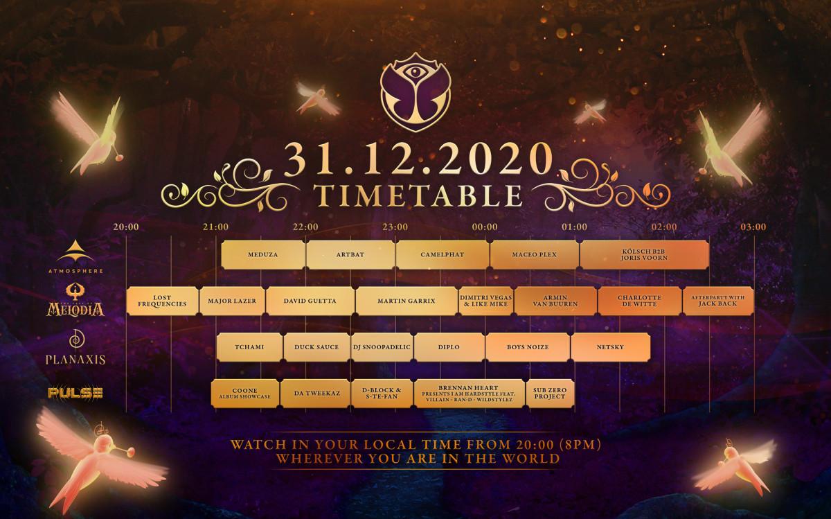 Tomorrowland + 31.12.2020 + - + calendrier