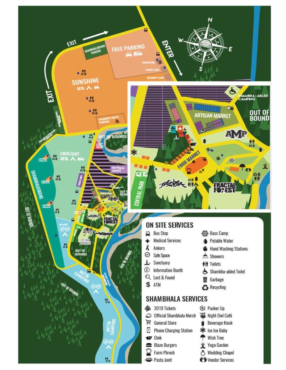 Shambhala Music Festival Map 2019