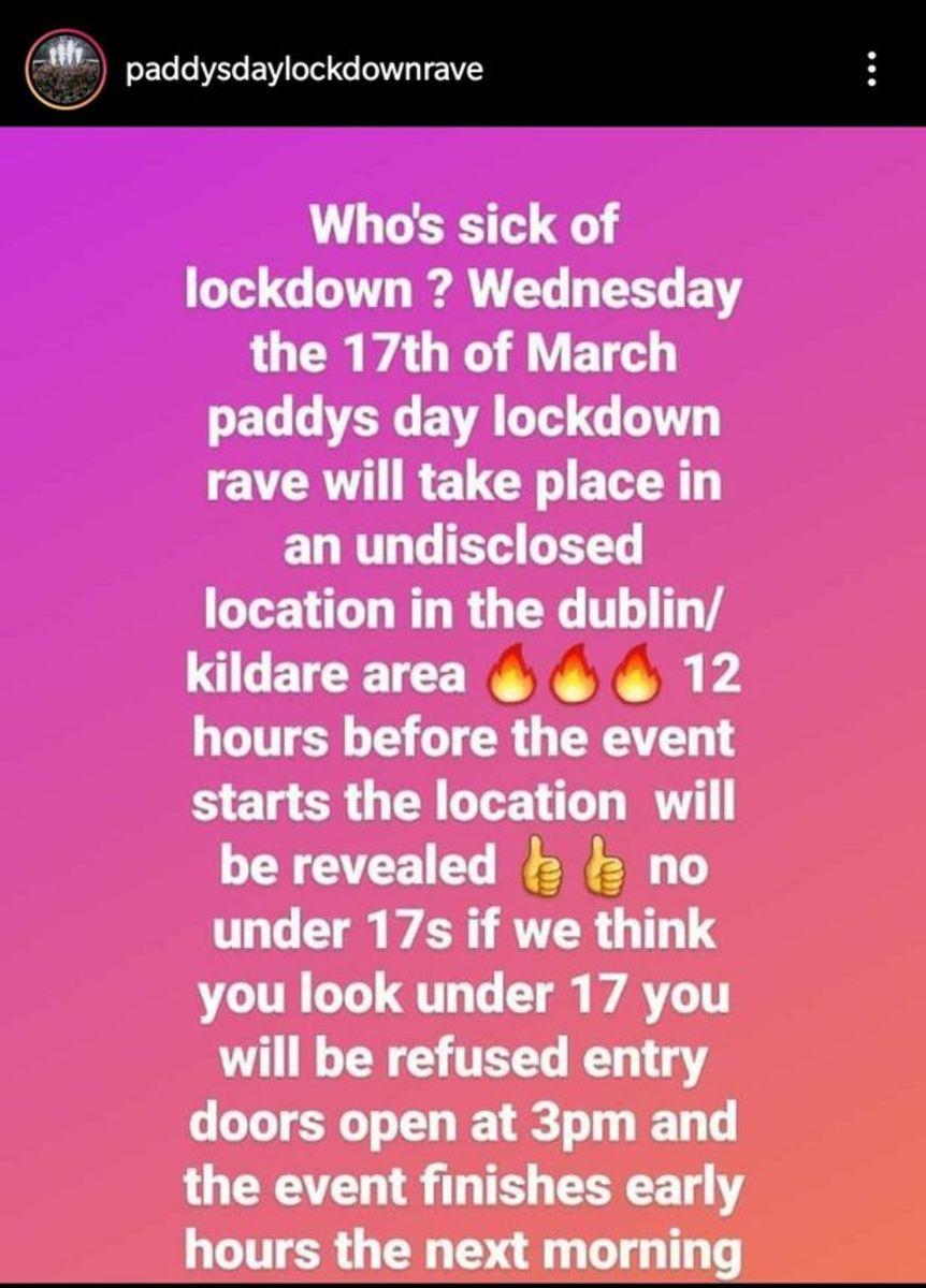 Paddys Day Lockdown Rave