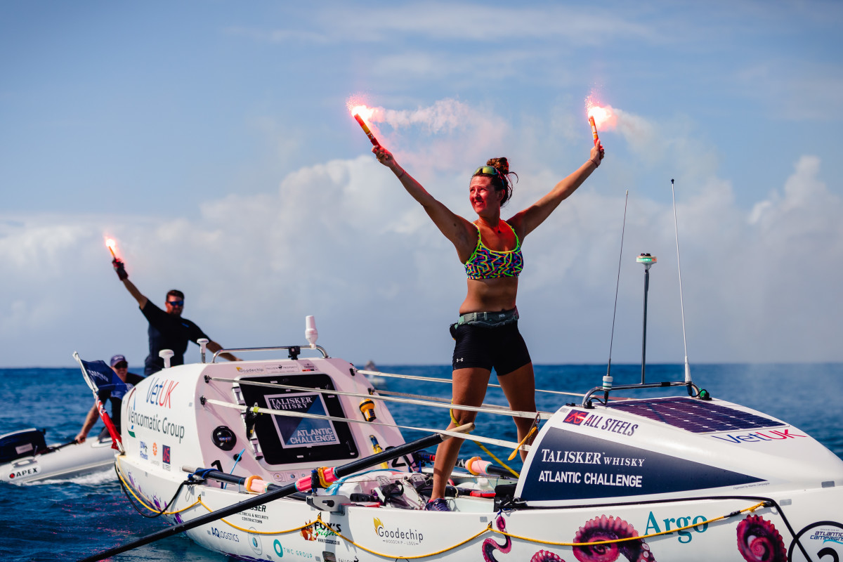 Jasmine Harrison became the youngest woman in history to row solo across any ocean after her 3,000-plus mile journey crossing the Atlantic.