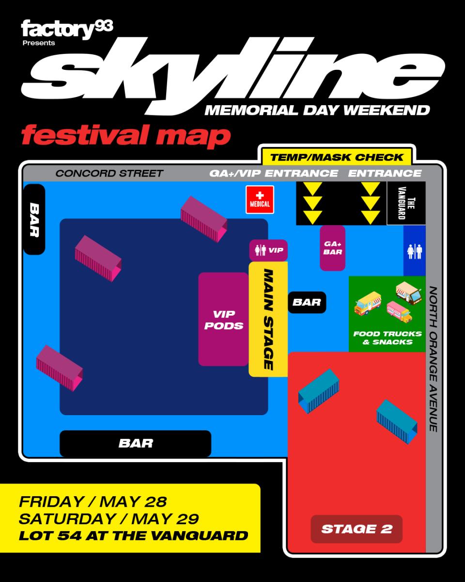 Skyline festival map.