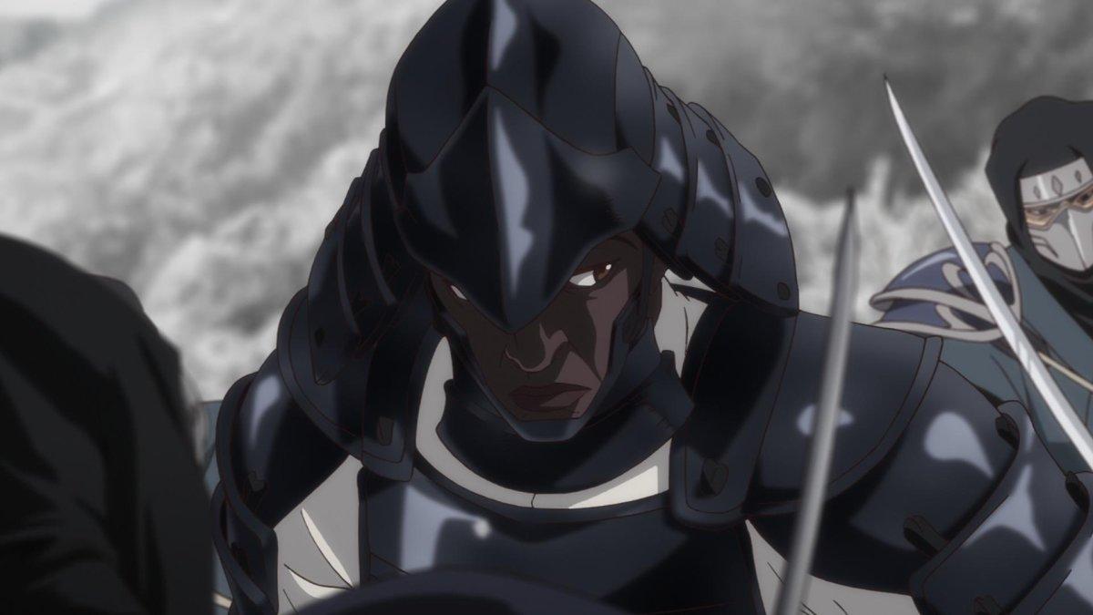 Teaser image fromYasuke, the upcoming anime Netflix series executive-produced by Flying Lotus.