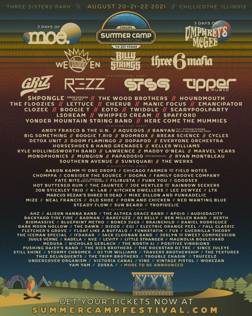 summer camp, summer camp music festival, griz, rezz, sts9, tipper, shpongle, the floozies, cherub, manic focus, emancipator, clozee