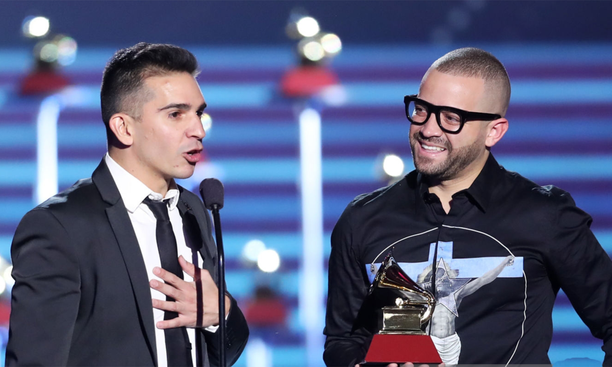 Cruz (left) and Nacho (right) at the 18th Annual Latin Grammy Awards.