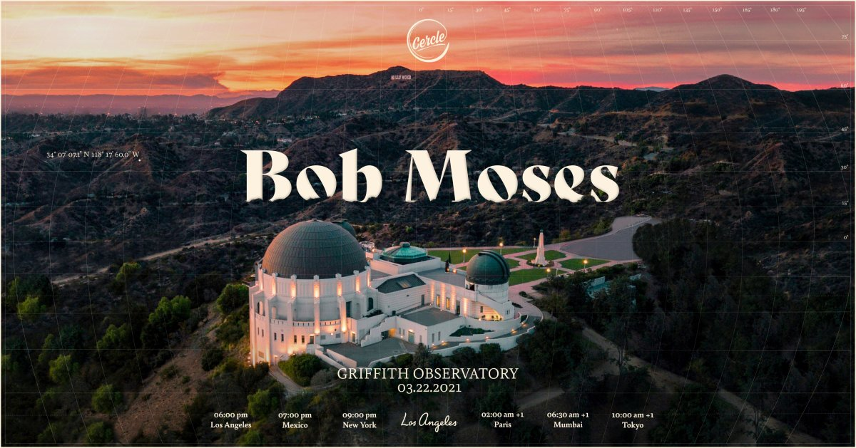 Bob Moses livestream at Griffith Observatory for Cercle Music announcement