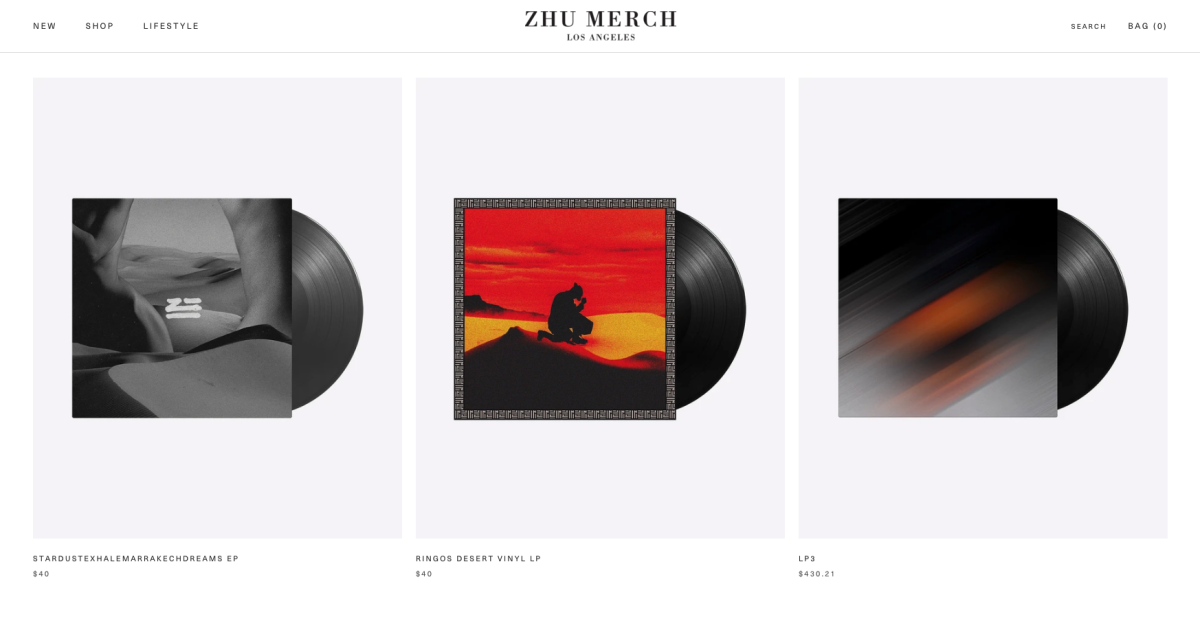 Screenshot of ZHU's merchandise website, which is rumored to reveal the release date of his third studio album. [Screenshot by EDM.com]