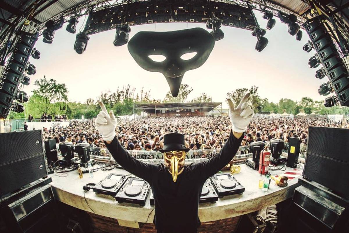 Claptone Performing at Buenos Aires Argentina 2019