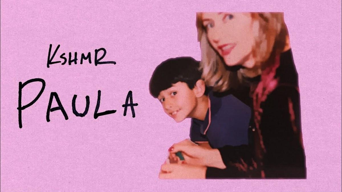 "Screenshot from KSHMR's official ""Paula"" lyric video."