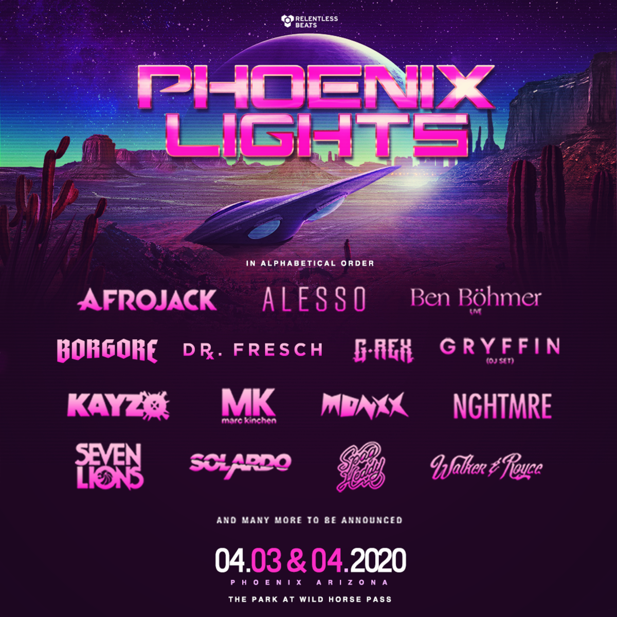 Phoenix Lights 2020 Second Wave Lineup