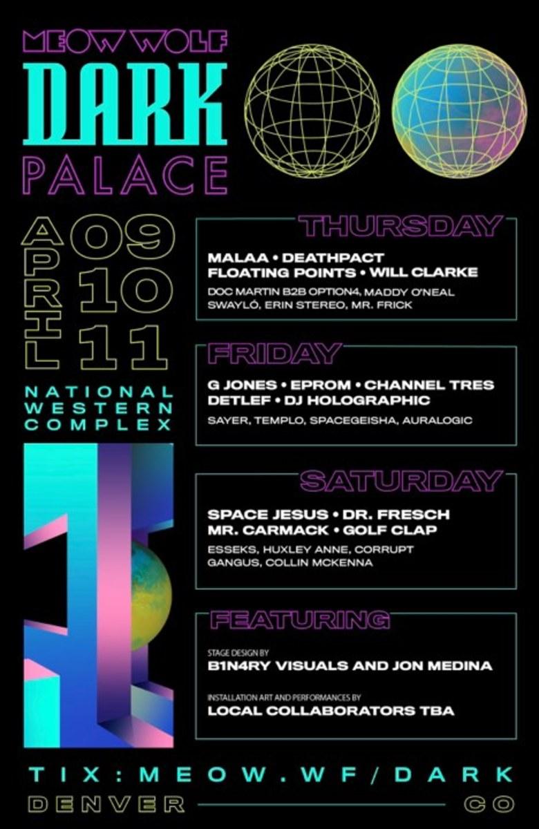 Meow Wolf Dark Palace 2020 Lineup