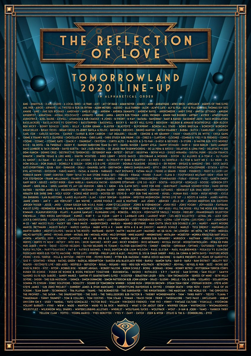 tomorrowland lineup poster
