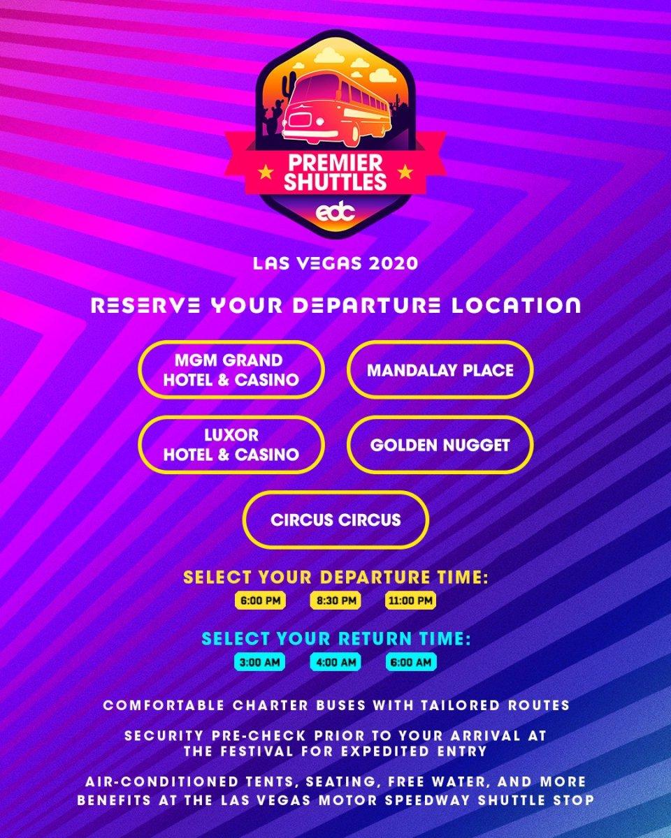 EDC Las Vegas 2020 Shuttle Schedule