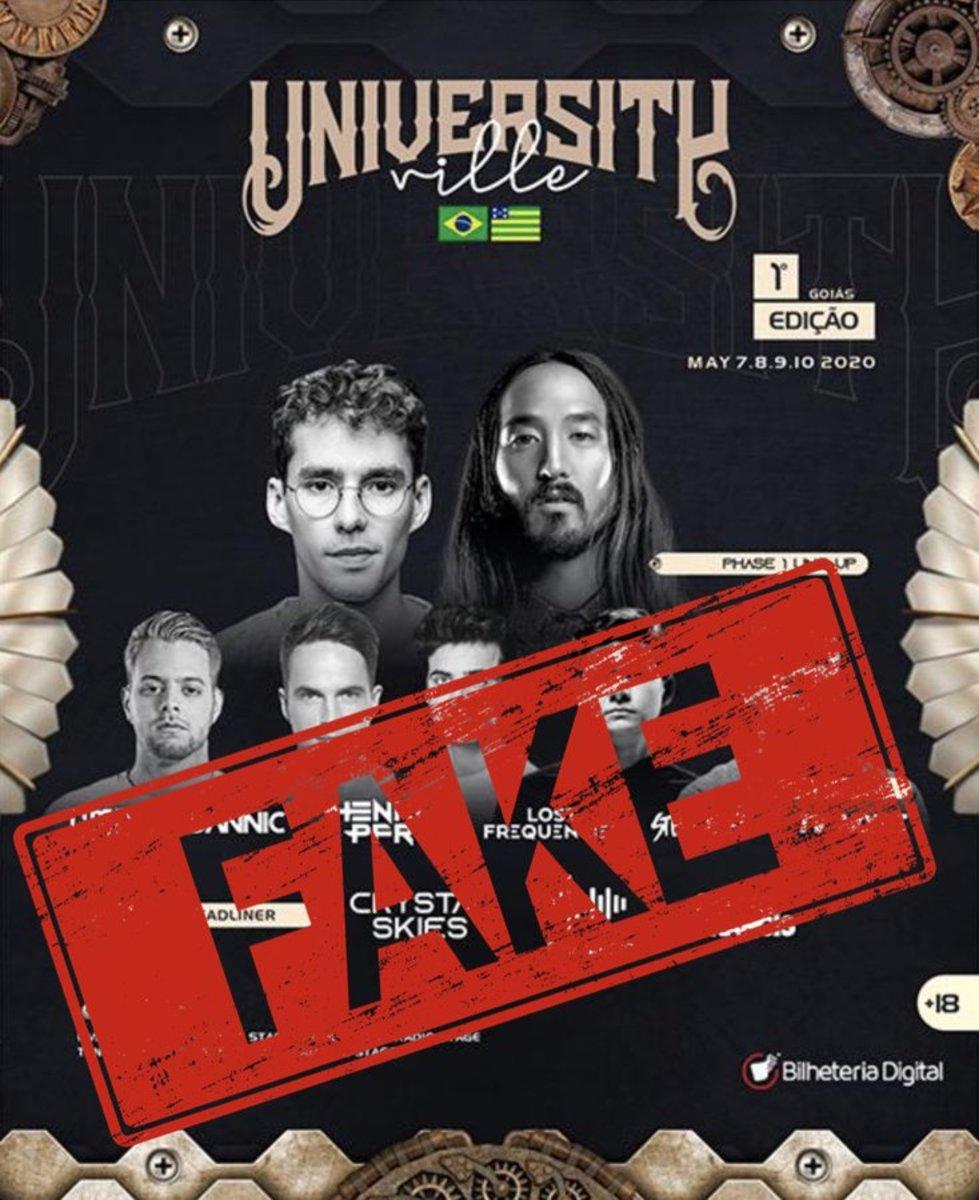 University Ville fake flyer tweeted by Steve Aoki.