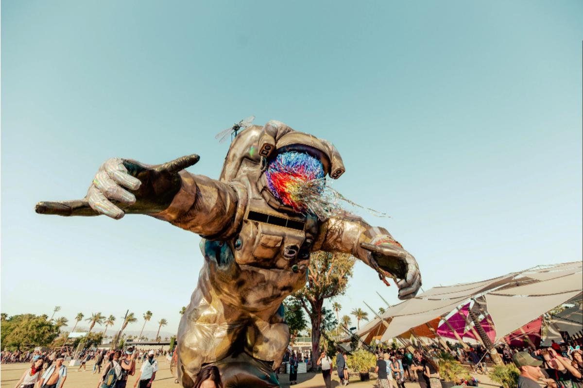 """""""Escape Velocity"""" installation at Coachella Valley Music and Arts Festival."""