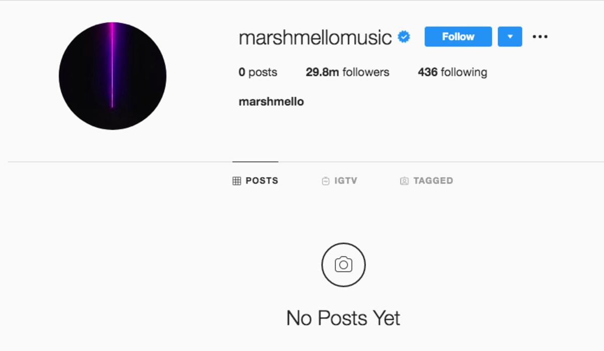 Marshmello Instagram