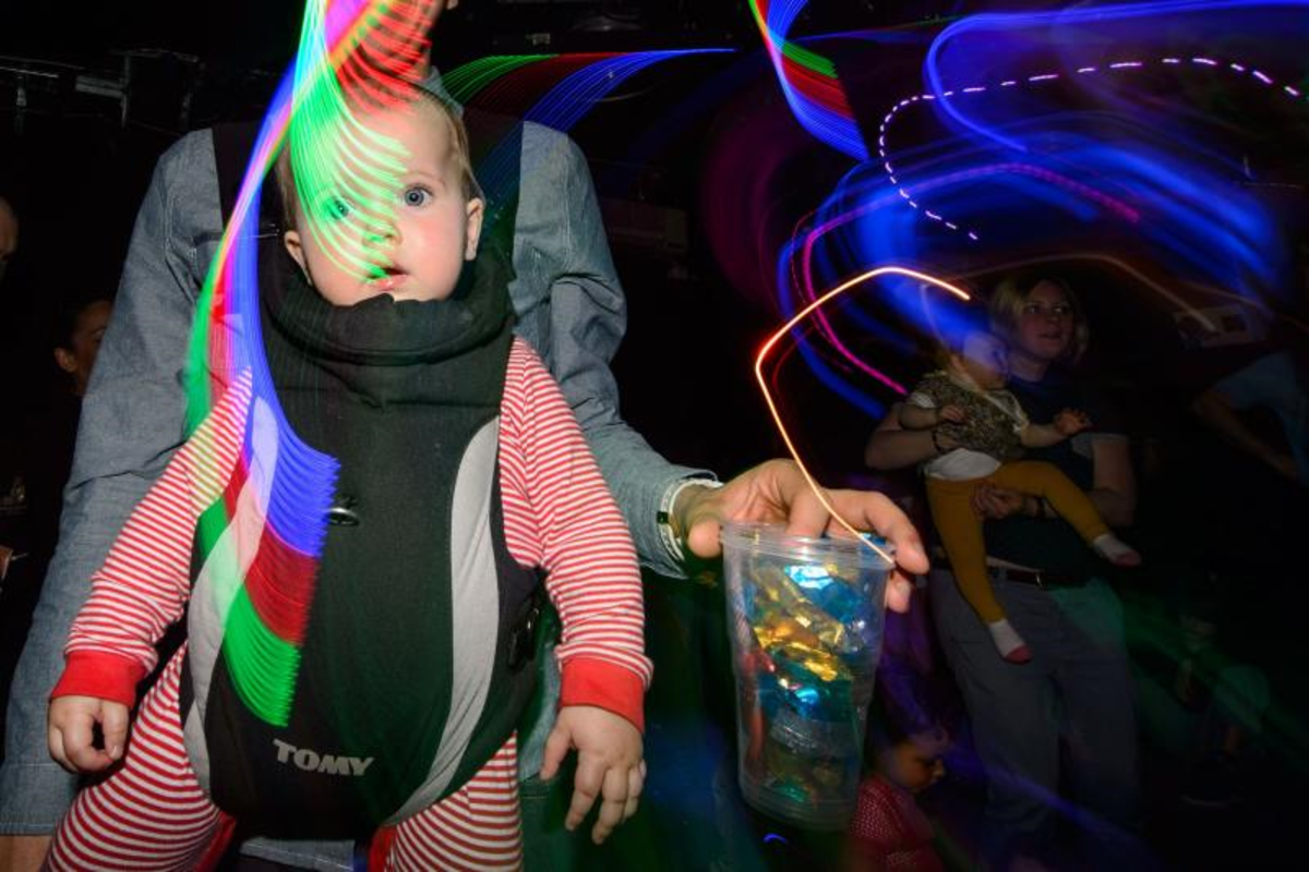 baby at a rave