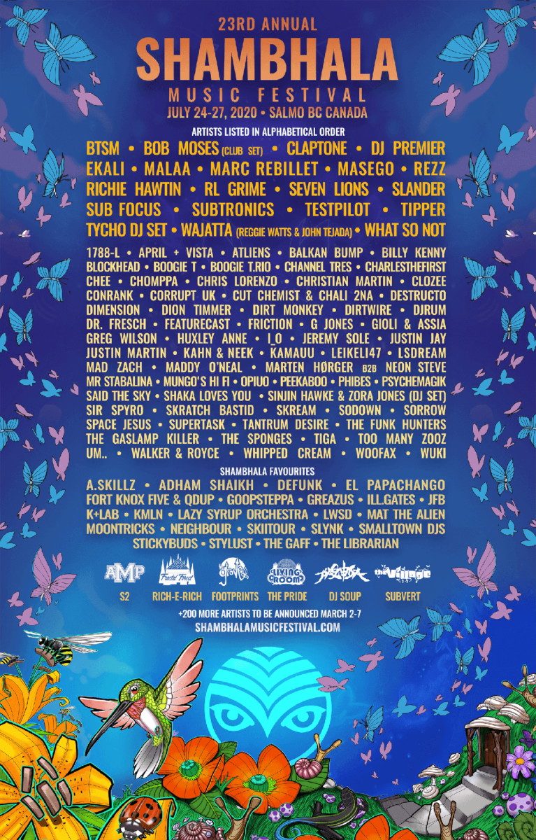 Shambhala Music Festival Phase One Line Up