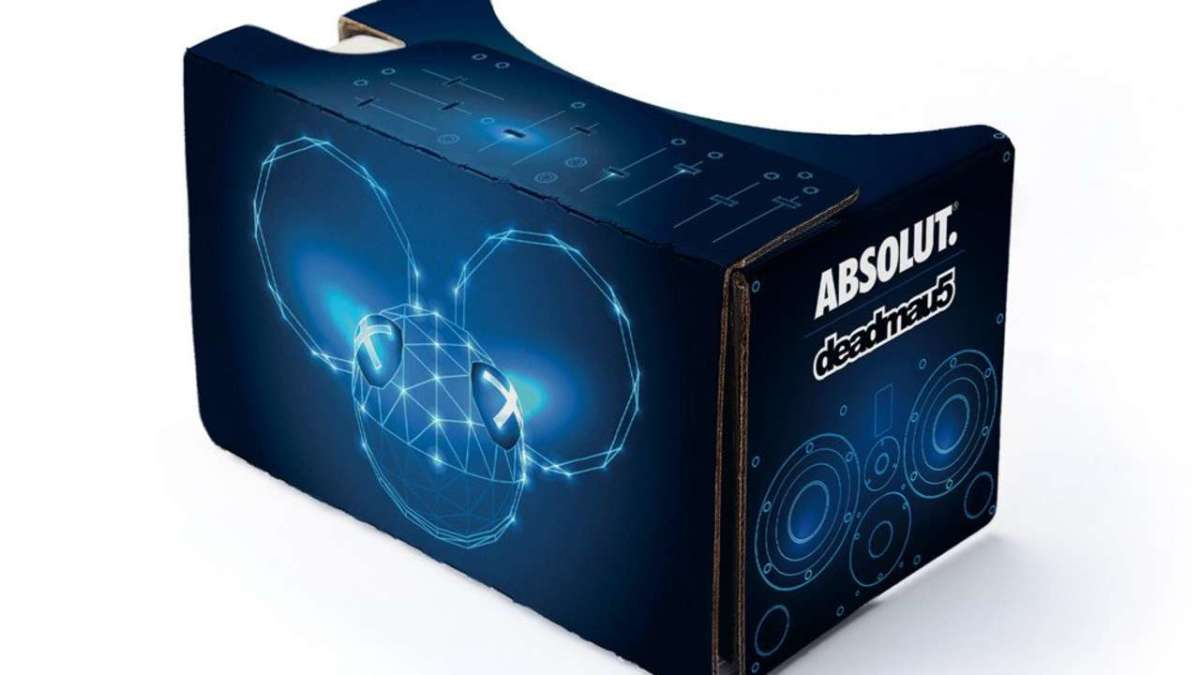 absolut deadmau5 google cardboard vr headset