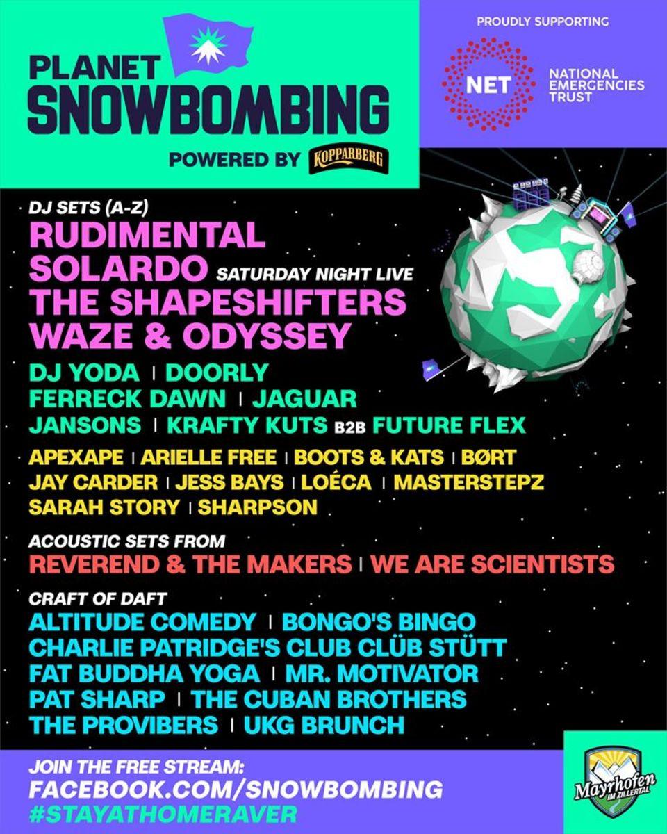 snowbombing lineup