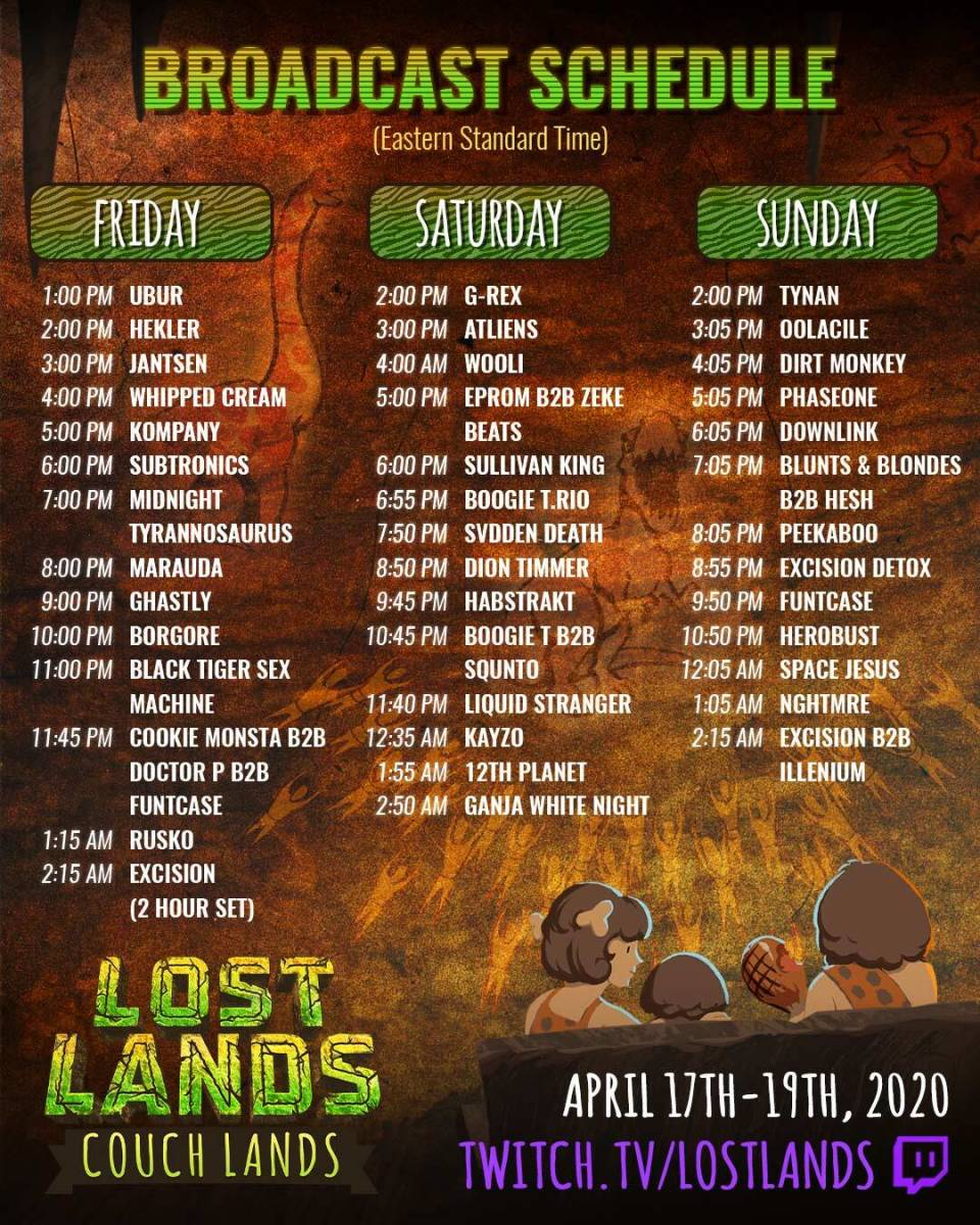Couch Lands Schedule