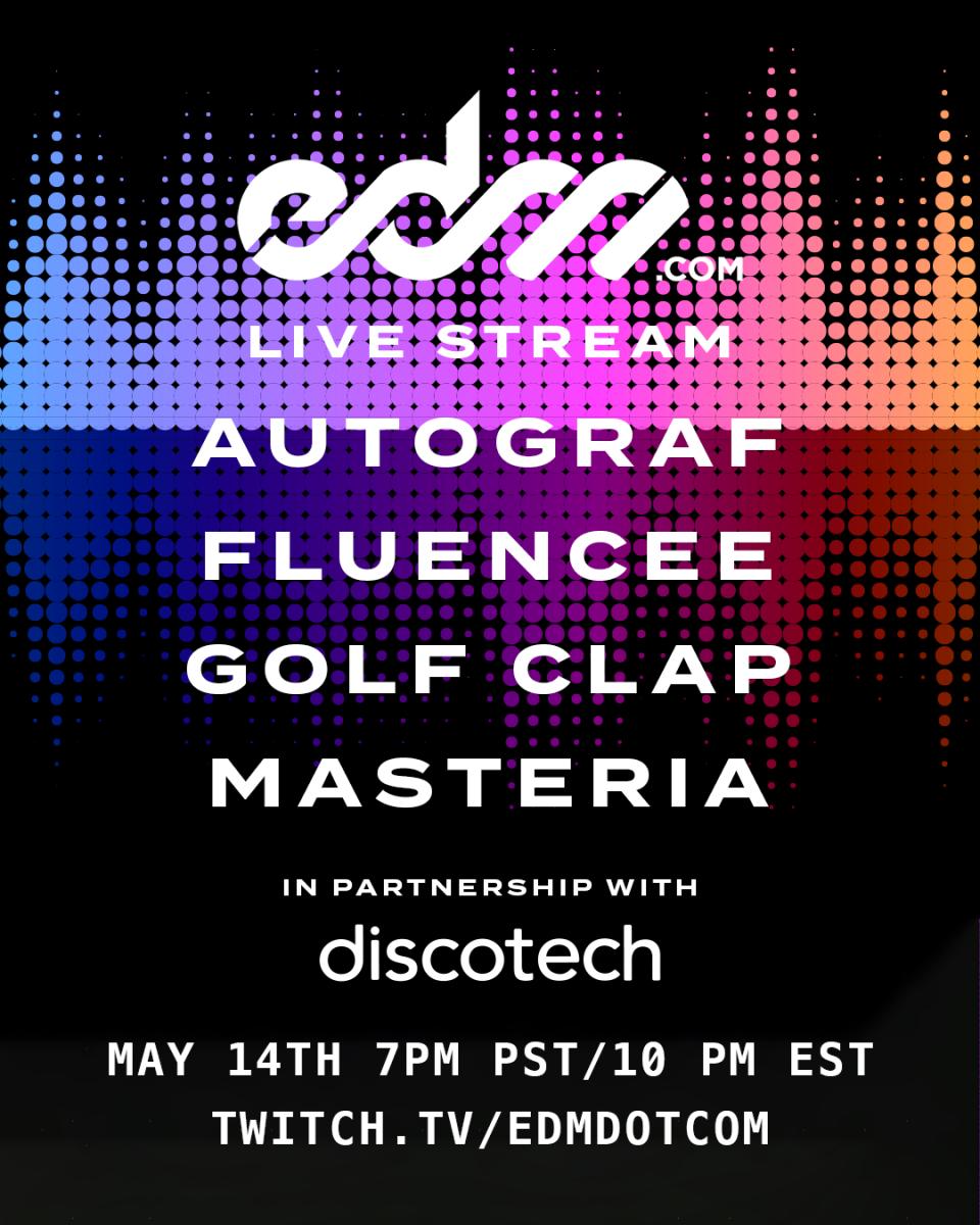 EDM.com x discotech Livestream Lineup