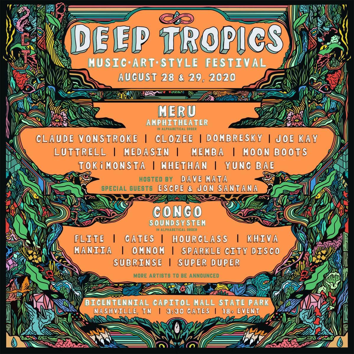 Deep Tropics 2020 lineup