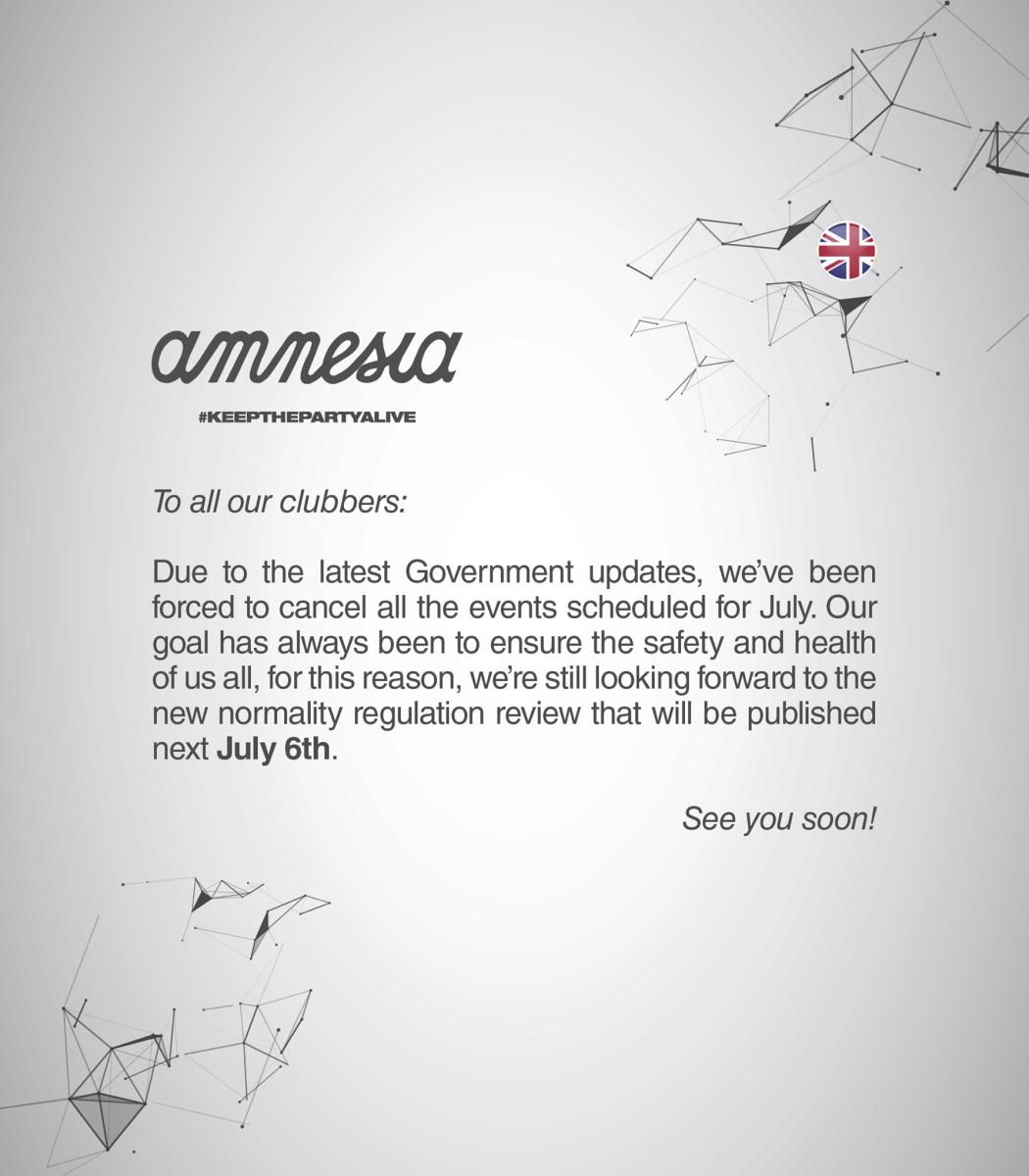Amnesia Ibiza statement