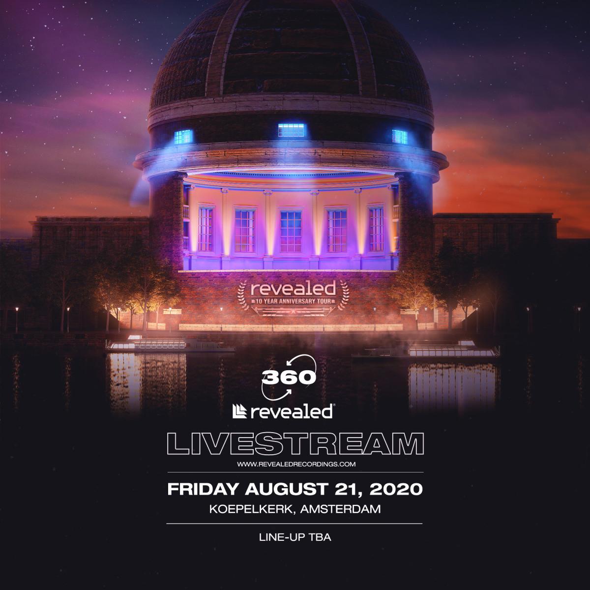 Revealed's 360° livestream event