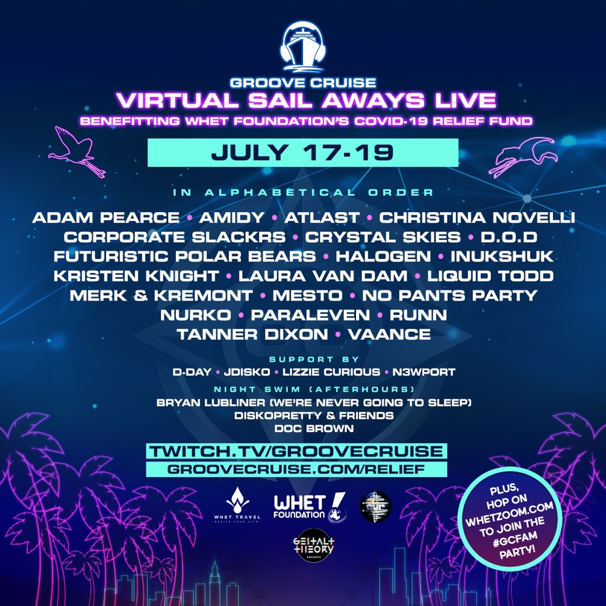 Groove Cruise July Lineup