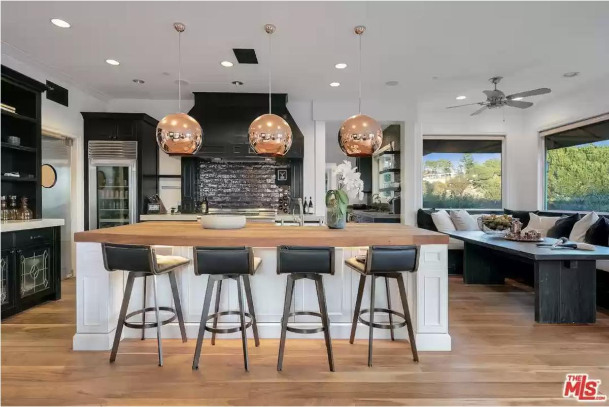 Eric Prydz Hollywood Hills House Kitchen