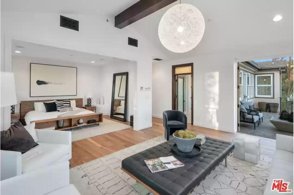 Eric Prydz Hollywood Hills Home Master Bedroom
