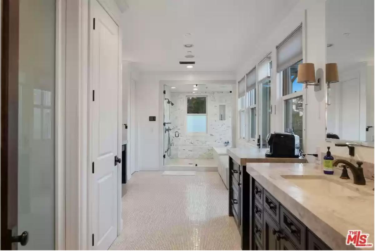 Eric Prydz Hollywood Hills Home Master Bathroom