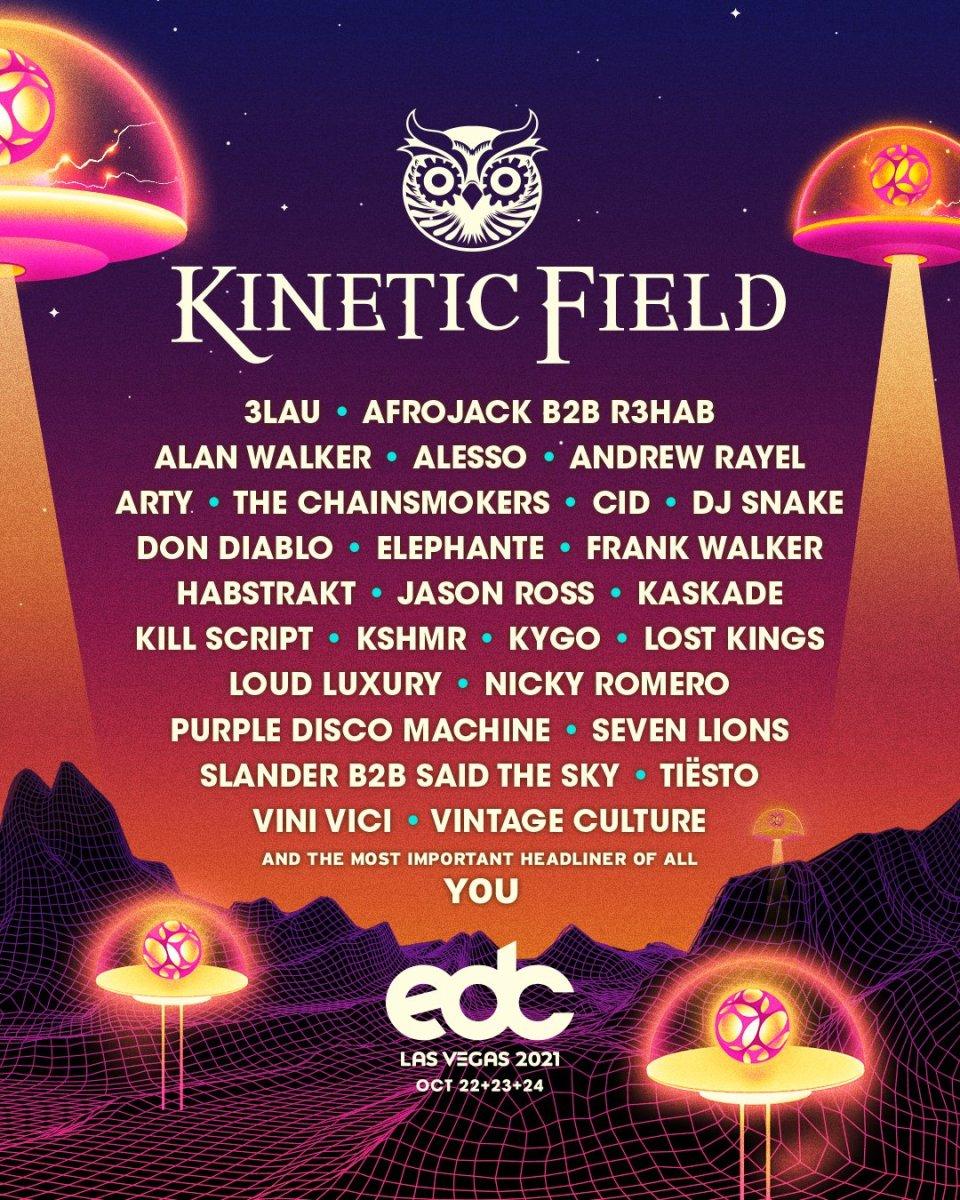 EDC Las Vegas 2021 Kinetic Field Lineup