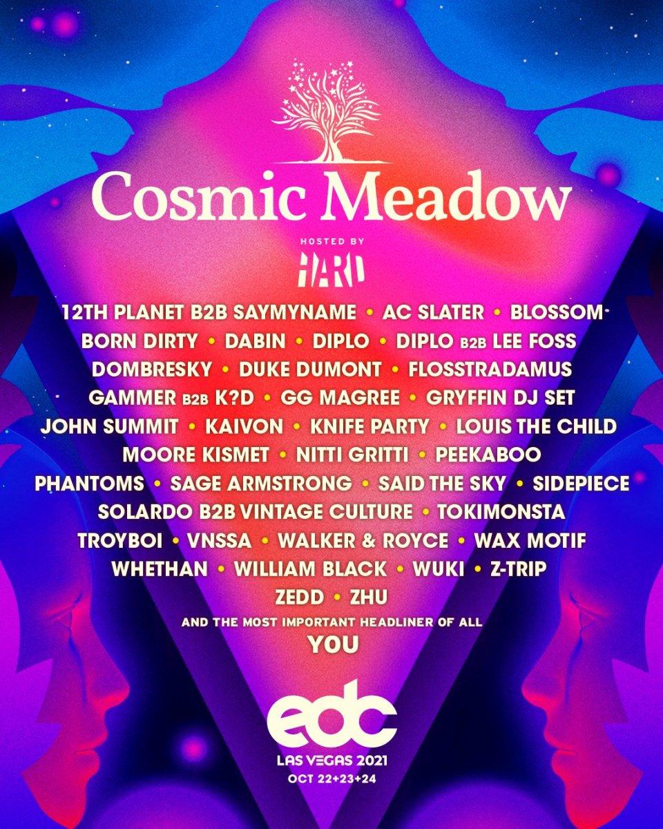 EDC Las Vegas 2021 Cosmic Meadow Lineup