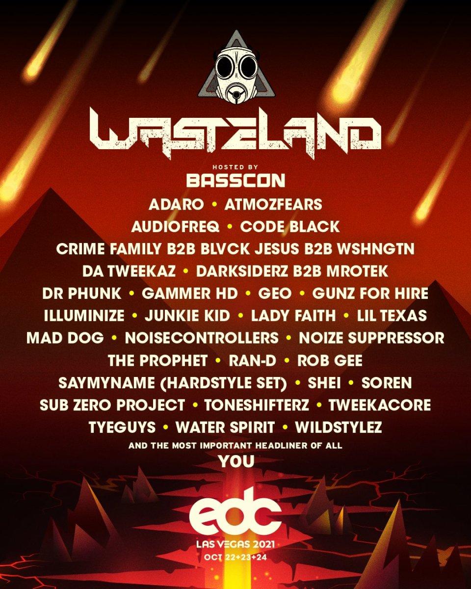 EDC Las Vegas 2021 Wasteland Lineup