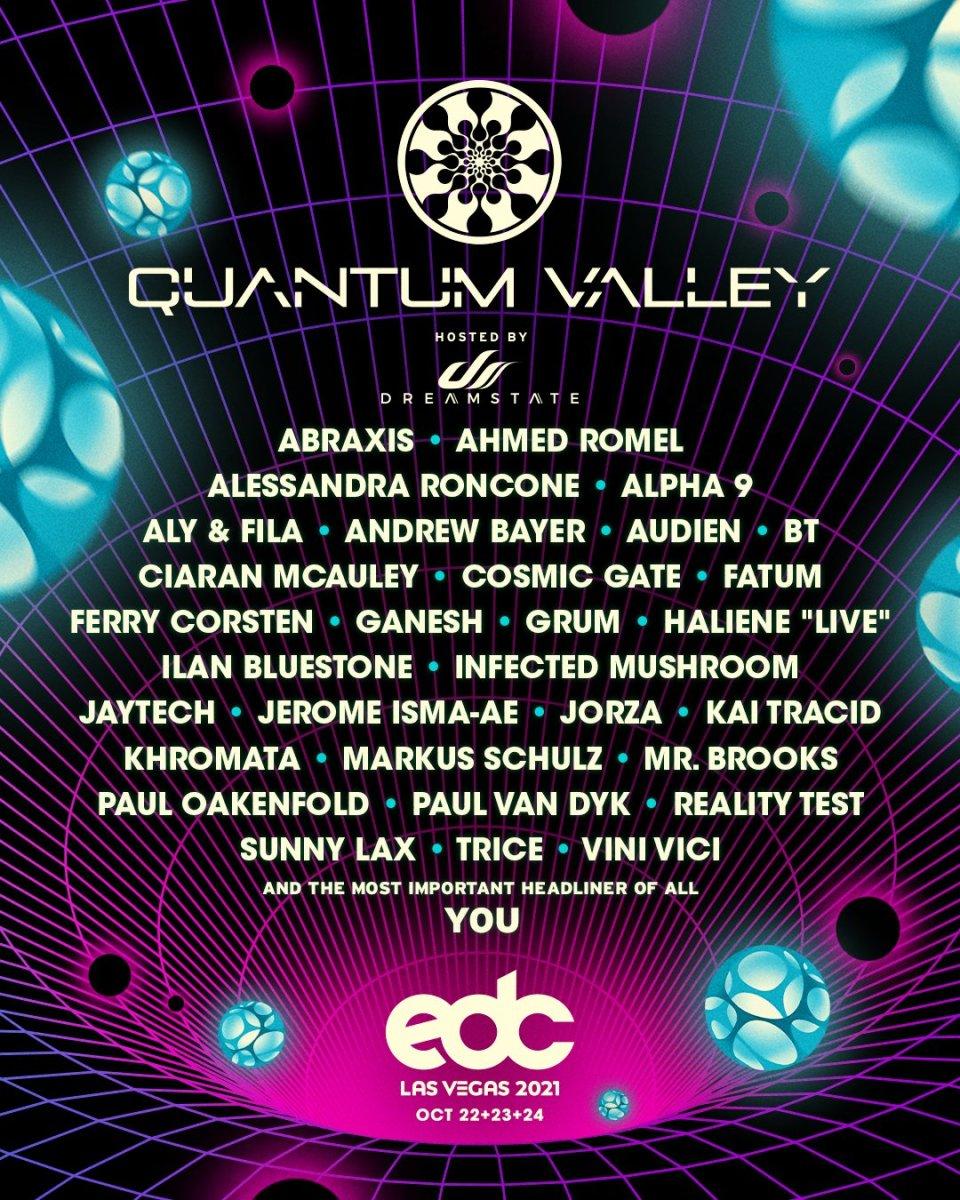 EDC Las Vegas 2021 Quantum Valley Lineup