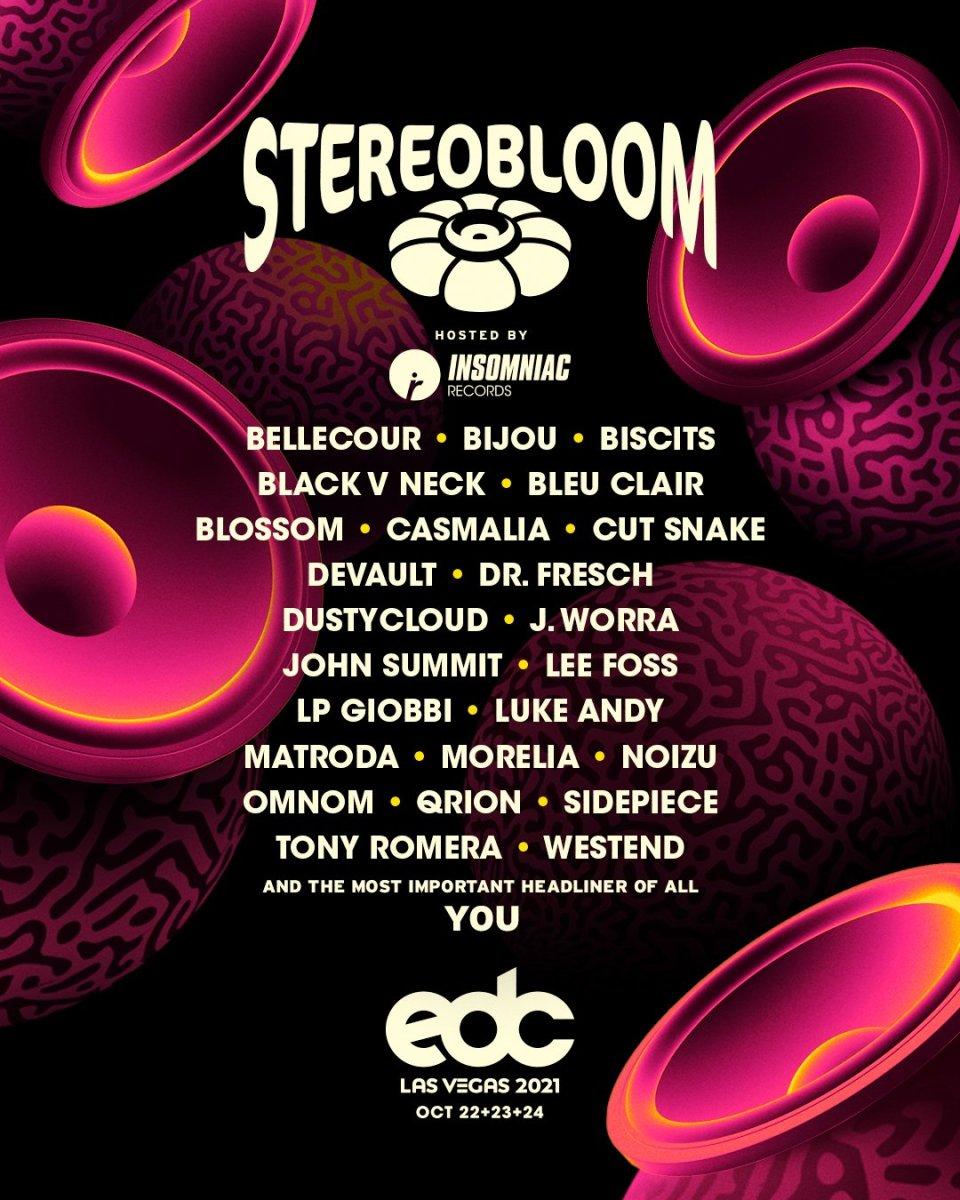 EDC Las Vegas 2021 Stereo Bloom Lineup