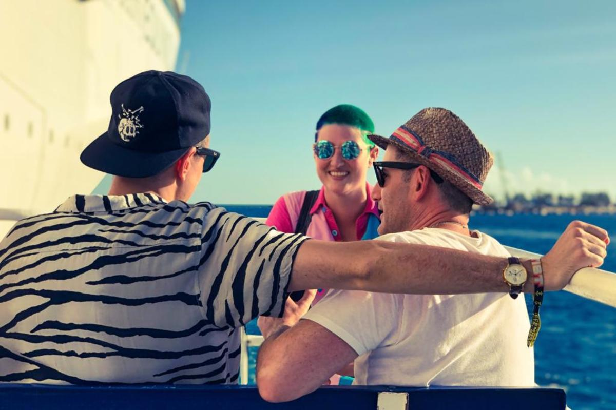 Kat Bein interviews Destructo and Boys Noize aboard Holy Ship!.