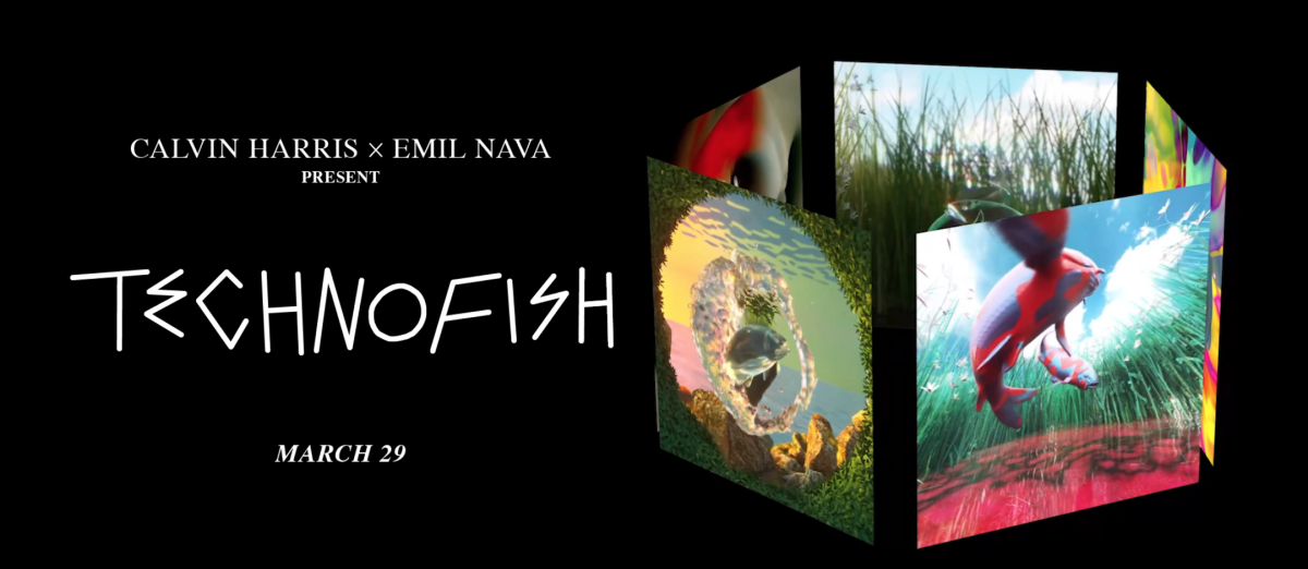 """A teaser image of Calvin Harris and Emil Nava's """"Technofish"""" NFT,"""" which sold for over $108,000."""